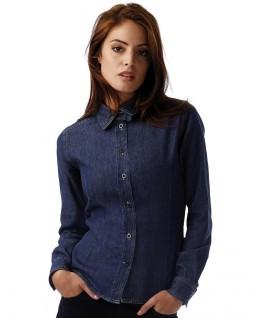 Camisa tejana manga larga mujer