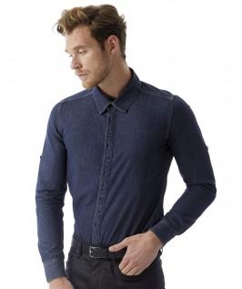 Camisa tejana azul oscuro