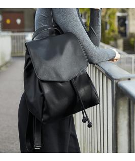 Mochila Mini de cuero sintético negro