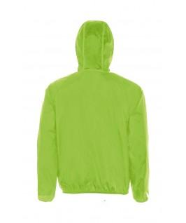 Cortavientos con Capucha Unisex Shore de Sol's verde fluorescente