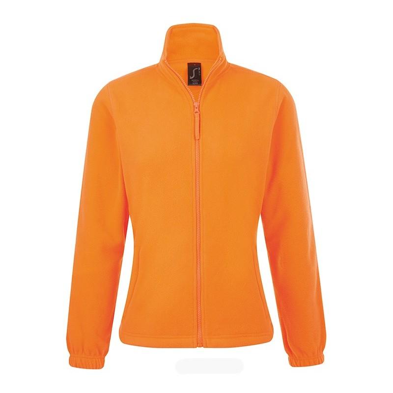 Chaqueta Polar Mujer North de Sol's naranja fluorescente