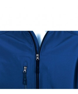 Chaleco Softshell Hombre Rallye de Sol's azul marino detalle del bolsillo en el pecho