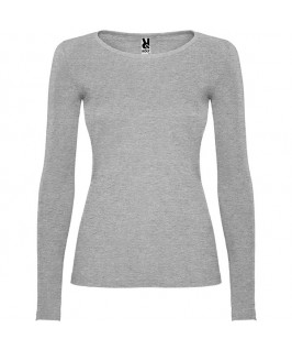 Camiseta Manga Larga Mujer Extreme de Roly gris jaspeado