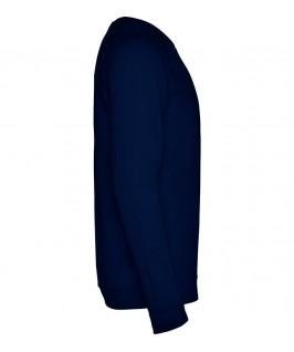 Sudadera cuello redondo Unisex Annapurna de Roly azul marino