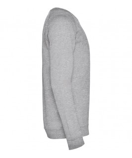 Sudadera cuello redondo Unisex Annapurna de Roly gris jaspeado