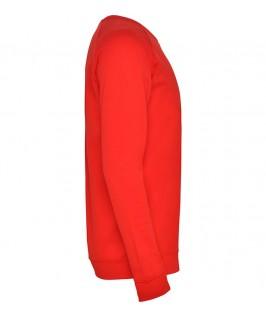 Sudadera cuello redondo Unisex Annapurna de Roly roja