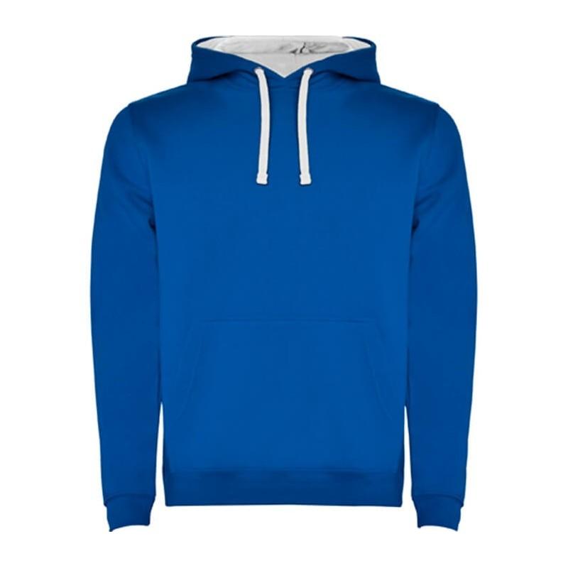 Sudadera azul eléctrica con blanco