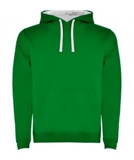 Sudadera verde con blanco