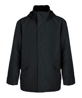 Chaqueta impermeable gris oscuro