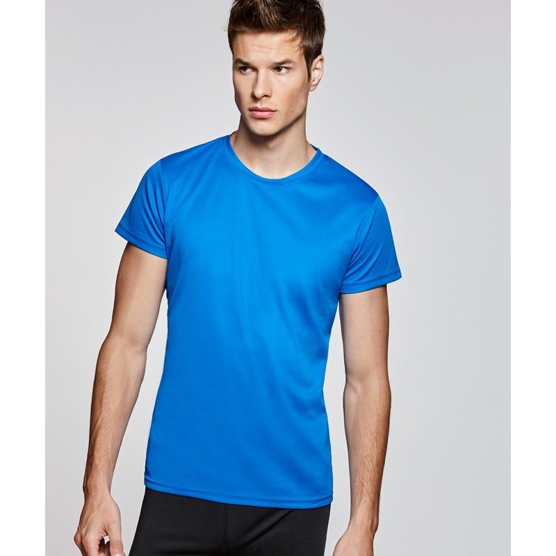 Camiseta deportiva azul eléctrico