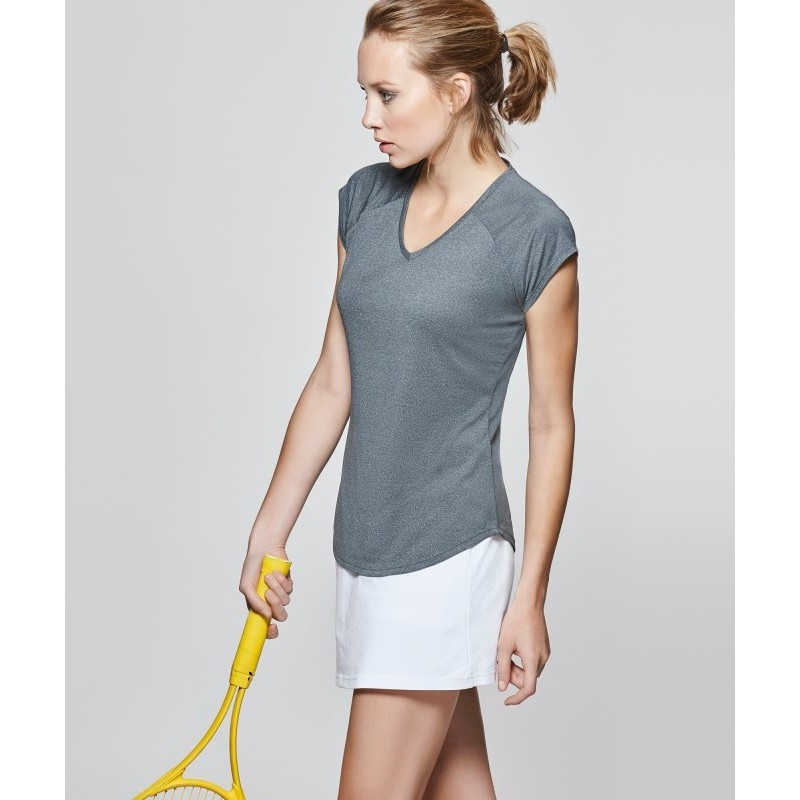 Camiseta técnica Avus gris jaspeado oscuro