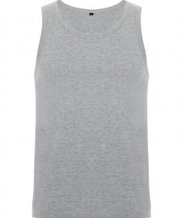 Camiseta Tirantes Niño Texas de Roly parte delantera en color gris jaspeado