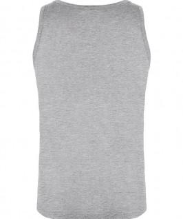 Camiseta Tirantes Niño Texas de Roly parte trasera en color gris jaspeado