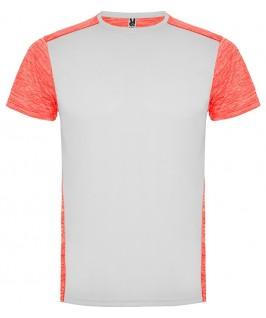 Camiseta parte delantera blanco con coral
