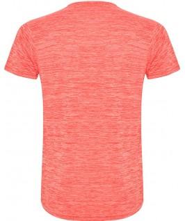 Camiseta parte trasera blanco con coral