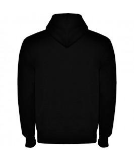 Sudadera con capucha parte trasera color negro