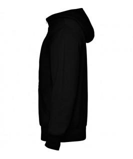 Sudadera con capucha parte brazo izquierdo color negro