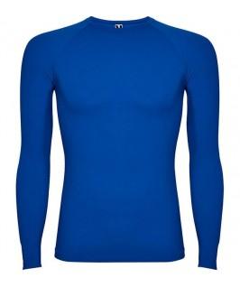 Camiseta térmica de color azul eléctrico