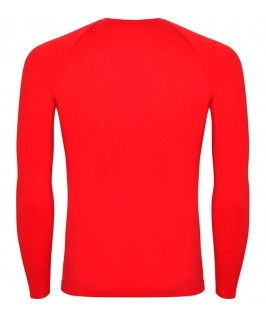 Camiseta técnica parte trasera de color rojo