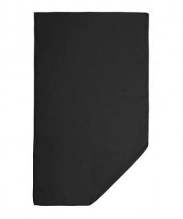 Toalla desplegada de color negro