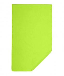 Toalla desplegada de color verde pistacho