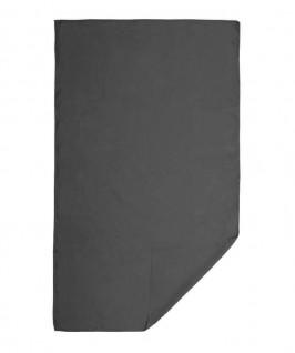 Toalla desplegada de color gris oscuro