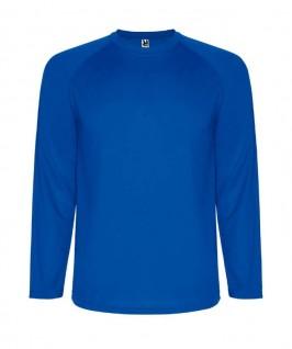 Camiseta técnica de color azul eléctrico
