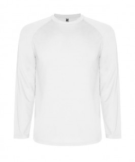 Camiseta técnica de color blanco