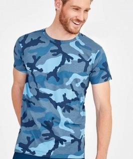 Camiseta Manga Corta Hombre Camuflaje
