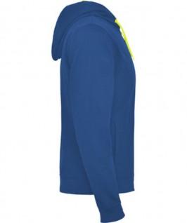Sudadera azule eléctrico con amarillo fluorescente