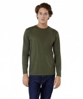Camiseta Manga Larga color caqui