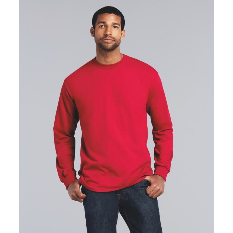 70b253c7945bc ... Camiseta Manga Larga Básica Hombre Ultra de Gildan. Camiseta roja