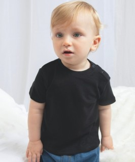 Camiseta Manga Corta Bebé de Babybugz negra