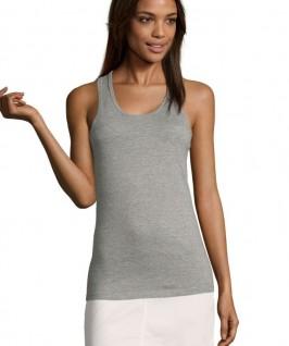 Camiseta gris jaspeado