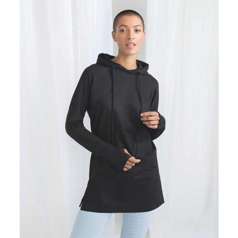 sudadera con capucha tipo vestido para mujer de mantisC&M