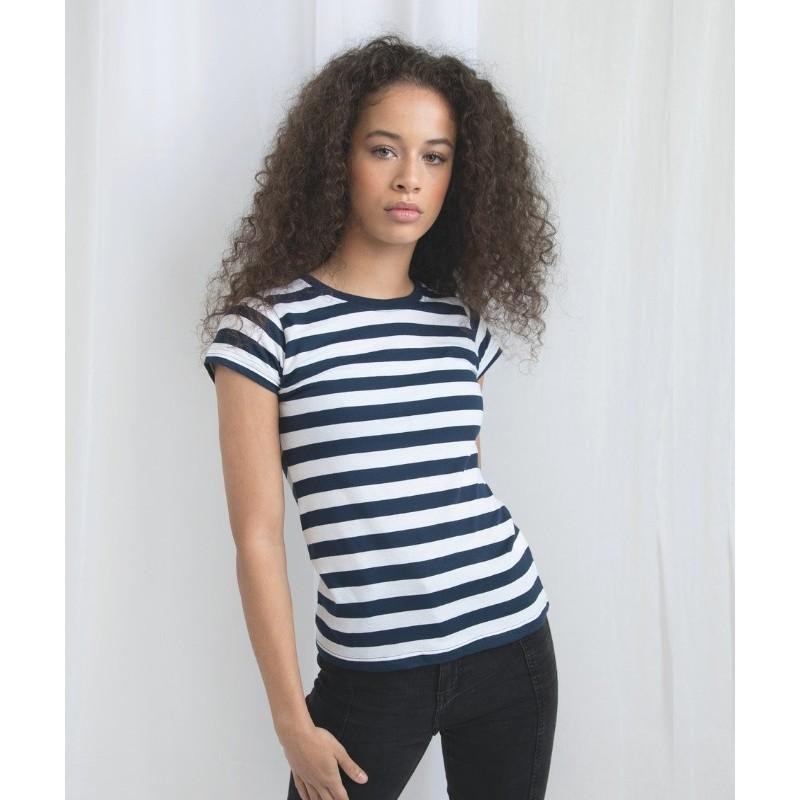 nueva productos b8a54 dfa42 camiseta a rayas manga corta mujer de mantis en la sección moda mujer de  basic estil.