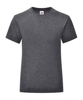 Camiseta gris jaspeado oscuro