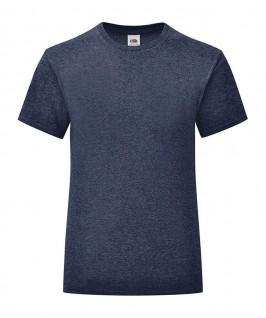 Camiseta azul marino jaspeado