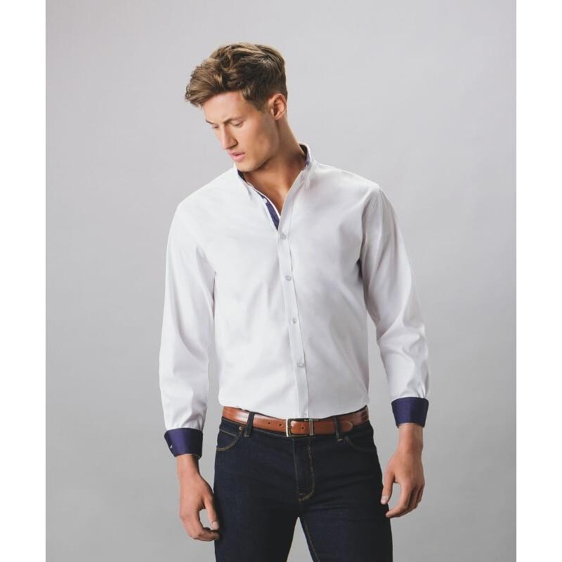 Camisa Manga Larga Hombre en contraste de Kustom Kit