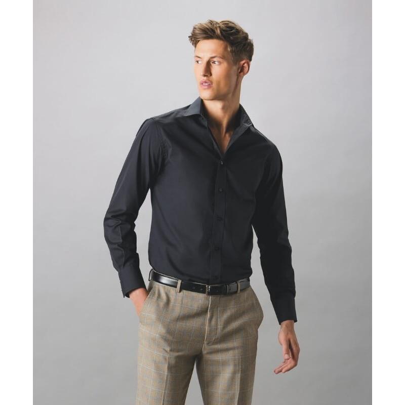 Camisa Manga Larga Hombre Tailored de Kustom Kit