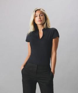 Camiseta Cuello Mandarín Mujer de Kustom Kit