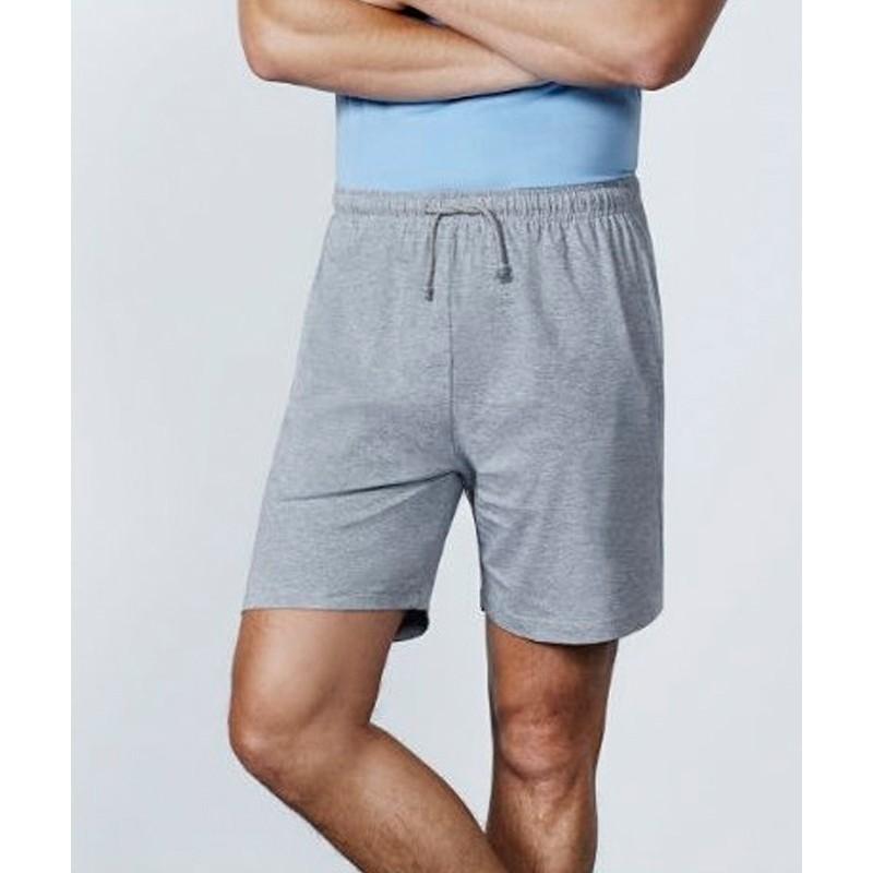 Pantalón corto gris jaspeado