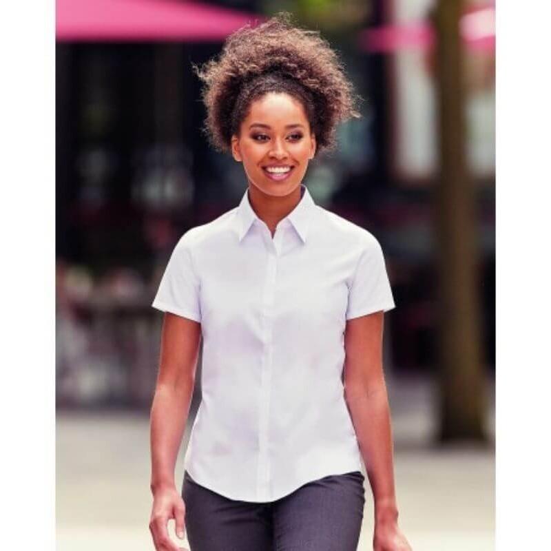 Camisa Manga Corta Premium Mujer de Russell