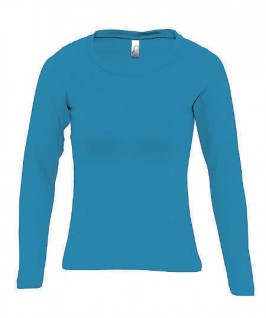 Camiseta manga larga turquesa