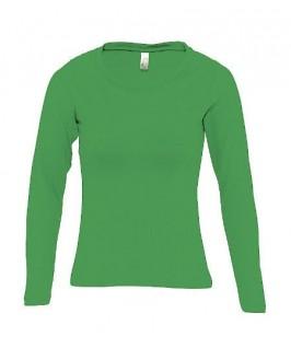 Camiseta manga larga verde hierba