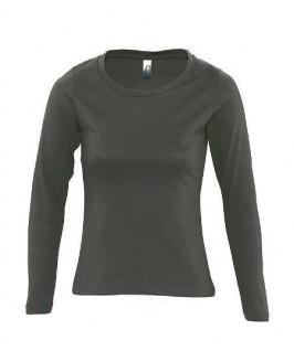 Camiseta manga larga gris oscuro