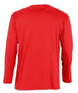 Camiseta manga larga roja espalda