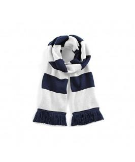 Bufanda blanco con azul marino