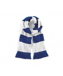 Bufanda azul eléctrico con blanco