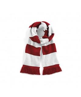 Bufanda blanco con rojo